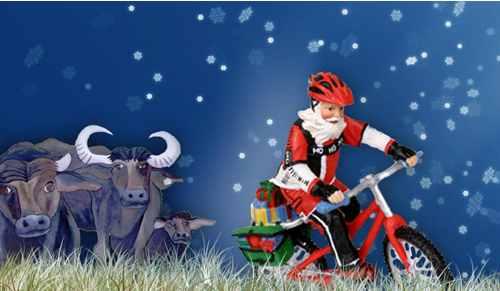 cycling-santa