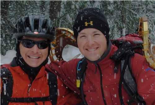 snowshoe-trekking