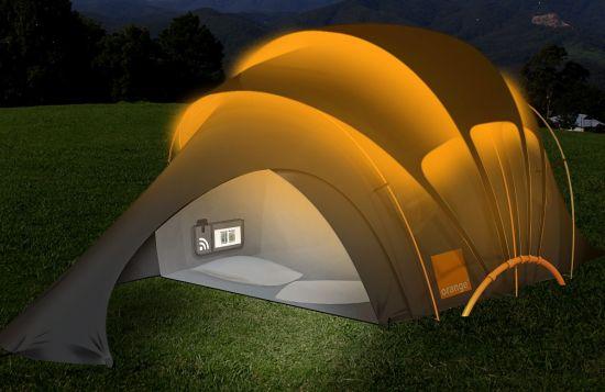 orange-tent_Ajz5J_5638 & solar powered tent with WiFi   besthike.com