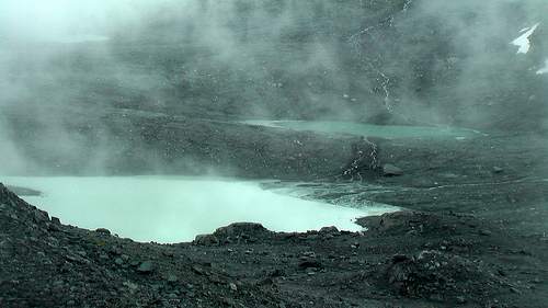 surreal glacial tarn