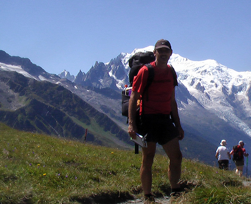 Rick at Col de Balme, France