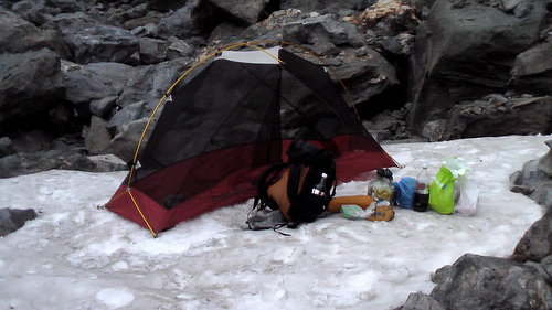 tenting on snow
