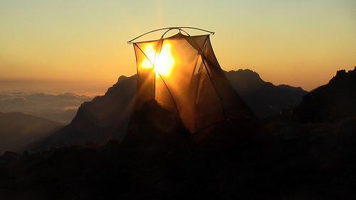 tent-sunset