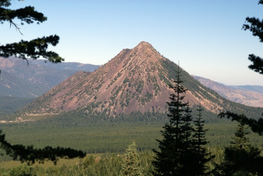 Black Butte from the west slope of Mount Shasta. (Photo by John Soares)