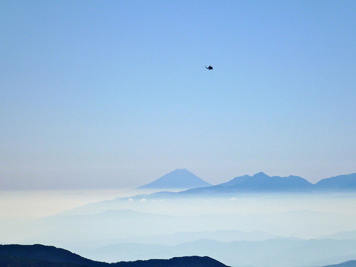 helicopter and Fuji