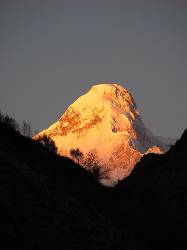 Dave Sinclair - Nanda Devi East at sunrise
