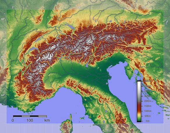 Alps map