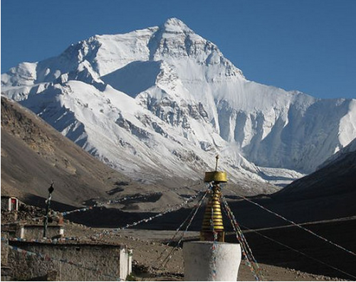 Everest North Face from the Rongbuk Monastery - steynard