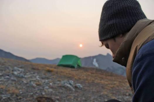 Michael Glaser tenting