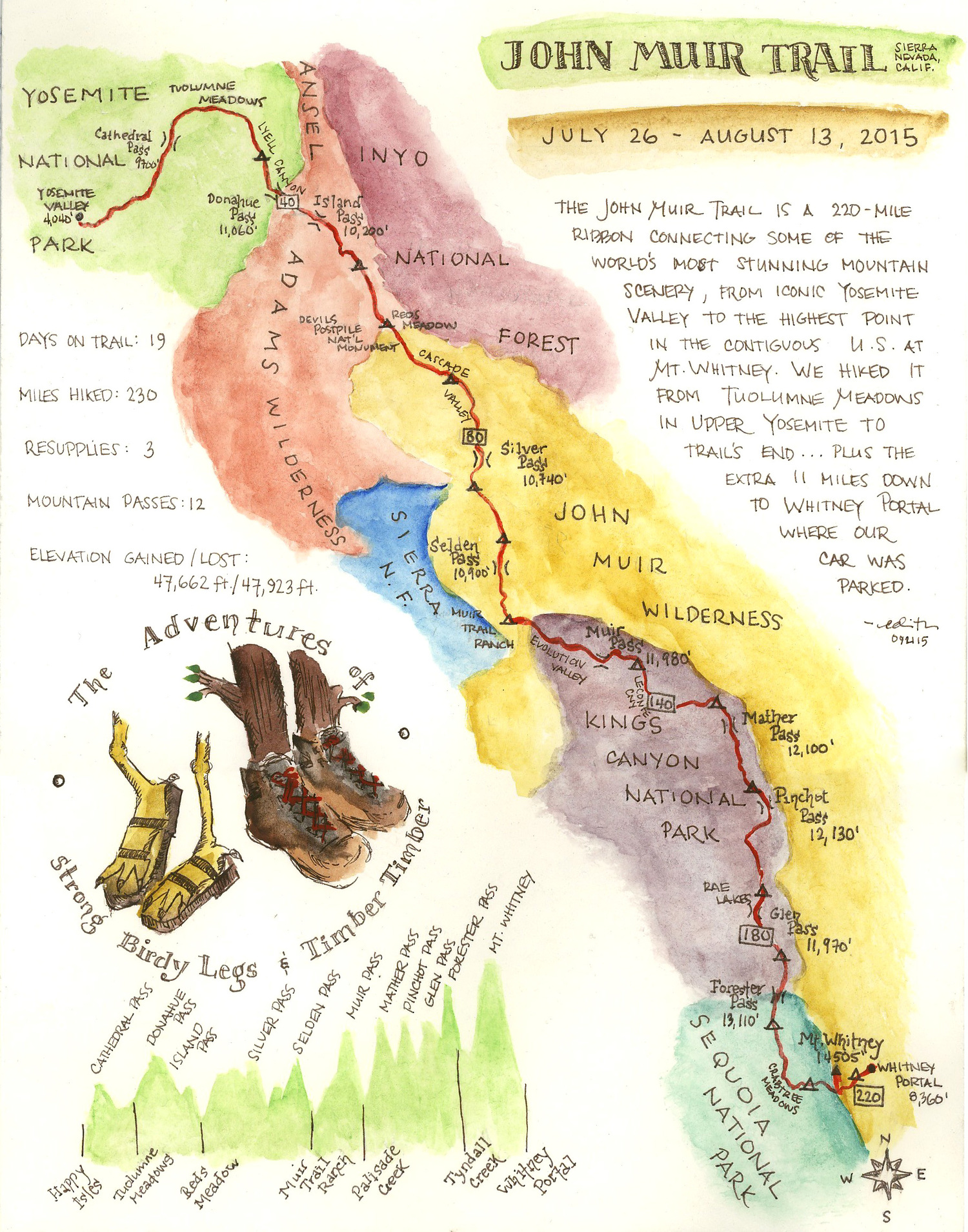 John Muir Trail  besthikecom