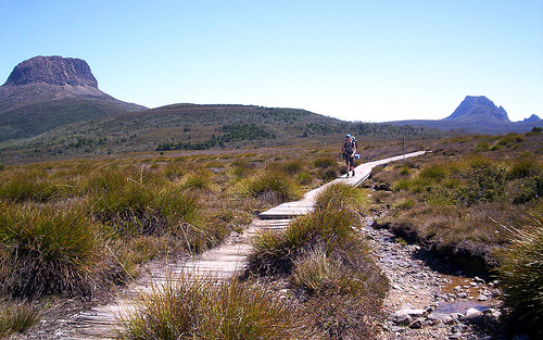 Overland hiker