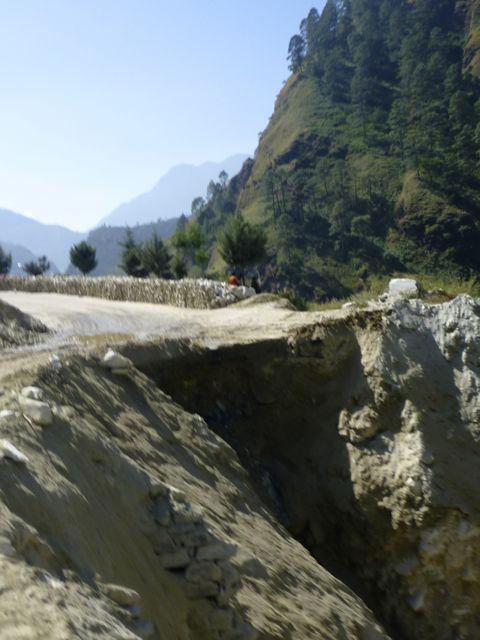 road wash out near Joshimath Kuari day 6