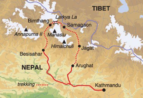 Manaslu map