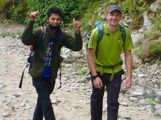 "guide Bijaya (""BJ"") and Mike Howarth"