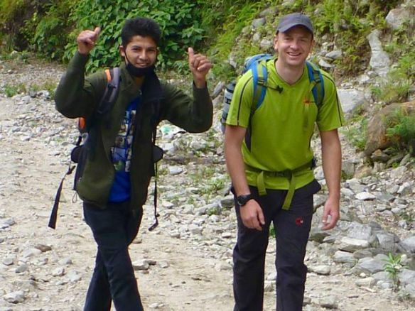 "guide Bijaya (""BJ"") and Mike Howarth"