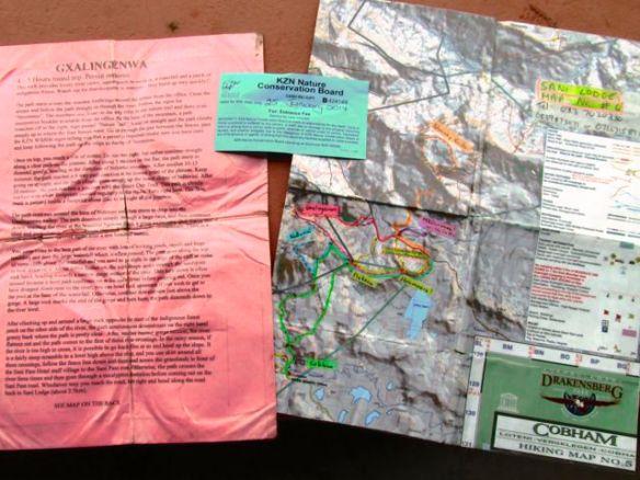 trail description, permit, map