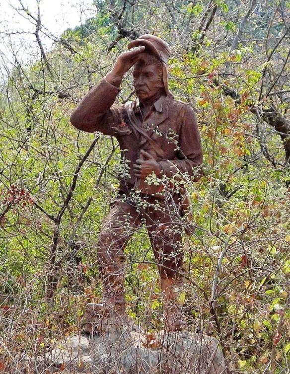statue near the Falls
