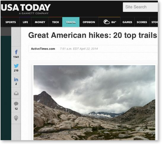 USA today hikes