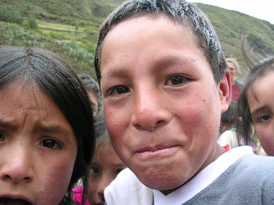 Quechua kids we met on Alpamayo