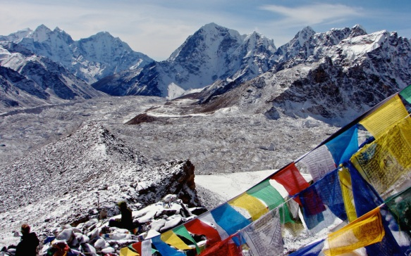 view from the top of Kala Patthar above Everest Base Camp