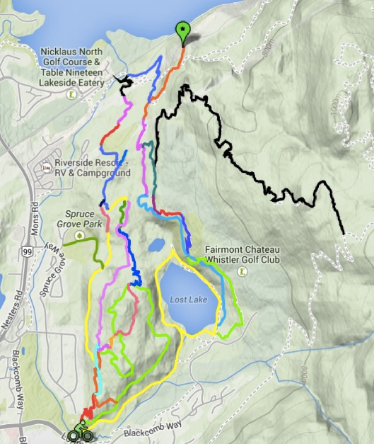 Lost Lake cycling map