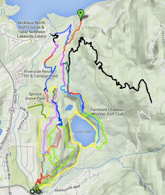 Lost Lake cycling map