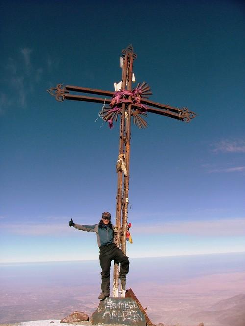 Boriss Andean on the summit