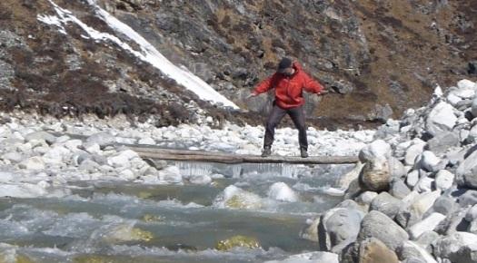 Rick crossing Langtang