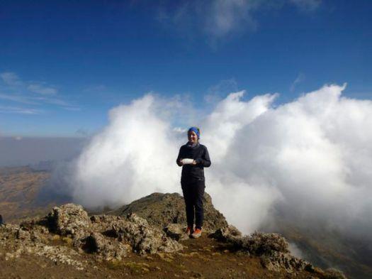 Nadine found snow in Africa