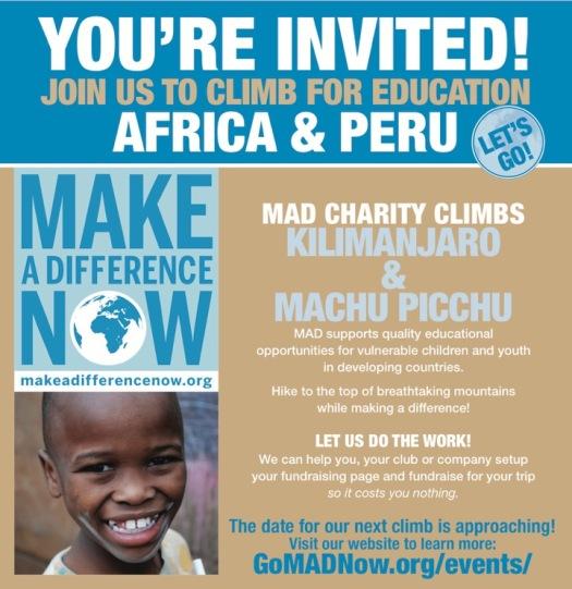 Mad Charity Kili Machu Picchu