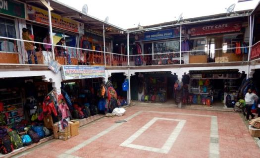 Group of gear shops just off the main bazaar, Leh