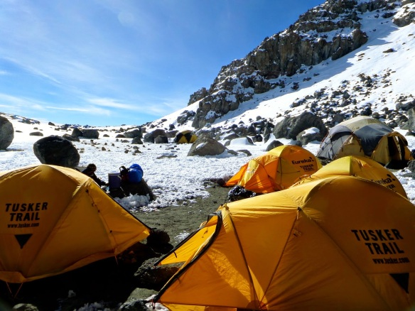Crater Camp 5700 meters (18,700 ft)