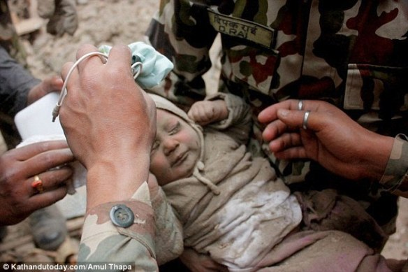 baby rescued Nepal