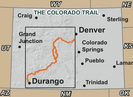 Colorado Trail map