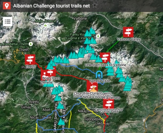Albania trails