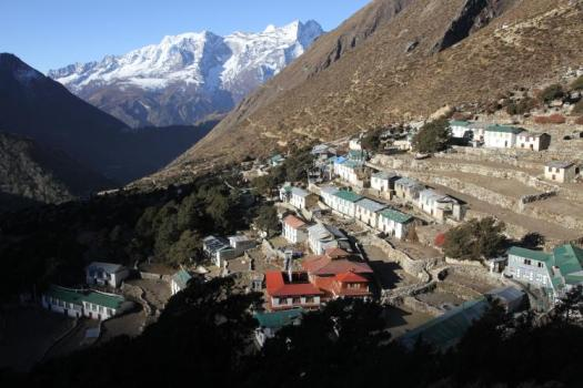 Upper Pangboche village