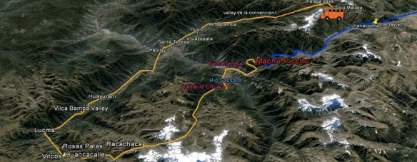 vilcabamba-trek-map