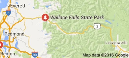 Wallace Falls map