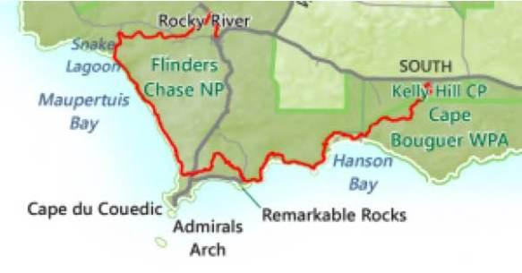 Map Of Australia Kangaroo Island.Kangaroo Island Wilderness Trail Australia Besthike Com